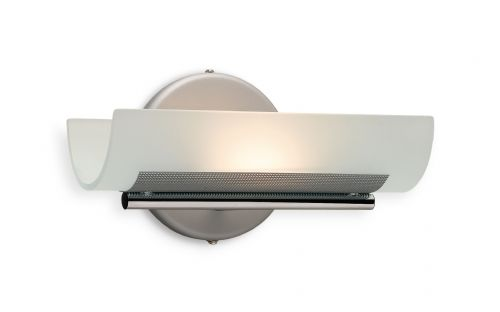 Firstlight WL274SS Satin Steel with Acid Glass Vetro Wall Light
